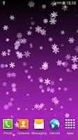 Screenshot of Snowflake Live Wallpaper