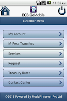 Screenshot of ECB GoMobile
