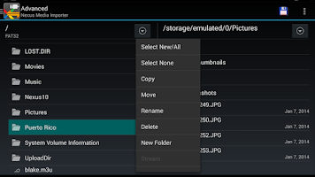 Screenshot of Nexus Media Importer