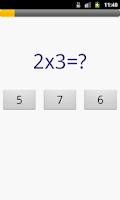 Screenshot of Multiplication table