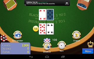 Screenshot of Classic 21 BlackJack
