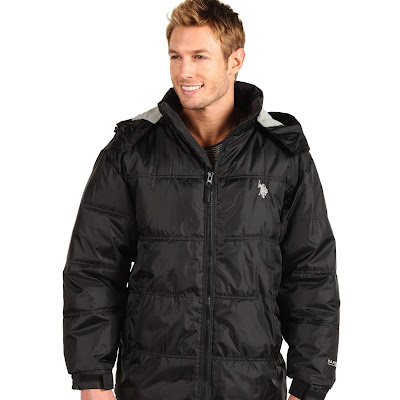 U.S. Polo Assn - Signature Bubble Jacket w/ Small Pony (Black) - Apparel