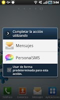 Screenshot of Personal SMS Argentina