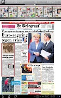 Screenshot of Telegraaf I app