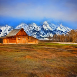 Moulton barn by Gayle Wilcox - Landscapes Mountains & Hills ( grand tetons )