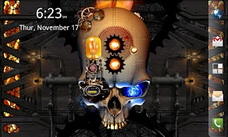 Screenshot of Steampunk Skull Free Wallpaper
