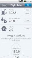 Screenshot of Weight & Balance