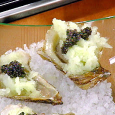 Fresh Melon and Vodka Granita with Oysters and Caviar