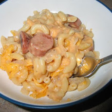 Macaroni and Cheese Dog Casserole