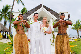 Fijian warriors at a wedding