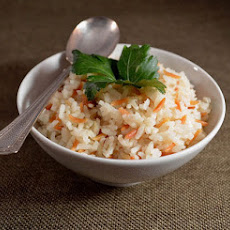 Middle Eastern Rice Pilaf with Toasted Orzo