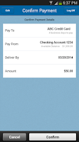 Screenshot of Zions Bank Mobile Banking