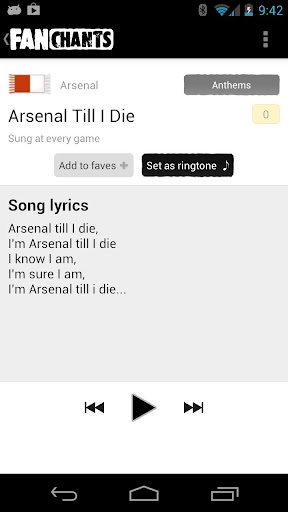 FanChants Football Songs - screenshot