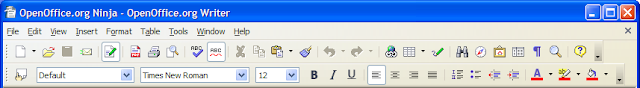 OpenOffice.org Writer 2.3.1 default icons show in Windows XP