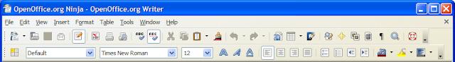 OpenOffice.org Writer 2.3.1 Tango icons show in Windows XP