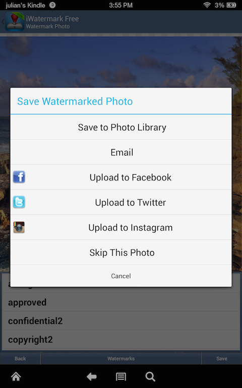 iWatermark Free Watermarking Screenshot 2