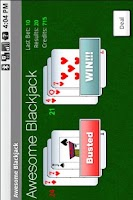 Screenshot of Awesome Blackjack!