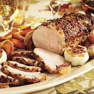 Rosemary-Garlic Pork With Roasted Vegetables & Caramelized Apples