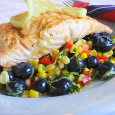 Lemon Grilled Salmon With Corn Salad