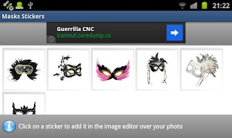 Screenshot of Masks Stickers