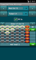Screenshot of PowerBall Picker