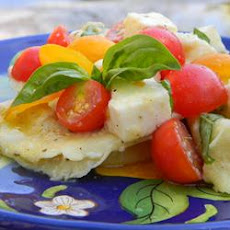 Ravioli with Cherry Tomatoes and Cheese