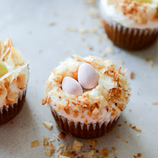Banana Carrot Cake Cupcakes with Coconut Cream Cheese Frosting