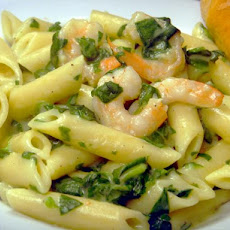Easy Shrimp Florentine and Penne Pasta