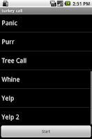 Screenshot of Turkey Calls