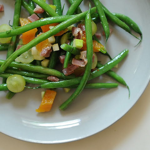 Bean Salad with Apricots and Serrano Ham