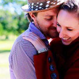 Joy of Love by Laurent Budihardjo - Wedding Other ( hug, park, joy, happiness, bokeh, people, love, sweet, prewedding, happy, outdoor, care, smile )