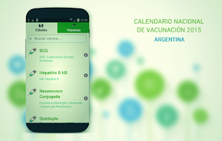Screenshot of Vaccination Schedule 2015