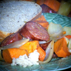 Kielbasa Potatoes, Onions & Carrots