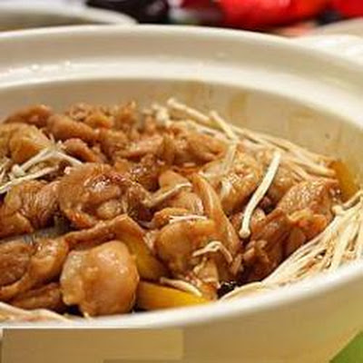 Chinese Chicken and Enoki Mushrooms