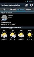 Screenshot of Weather Forecast