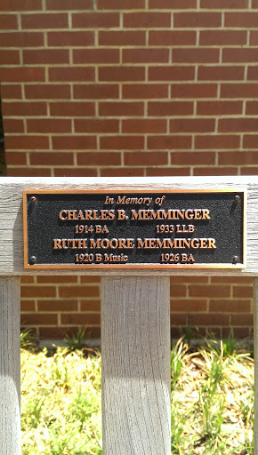 Charles B. Memminger Memorial Bench
