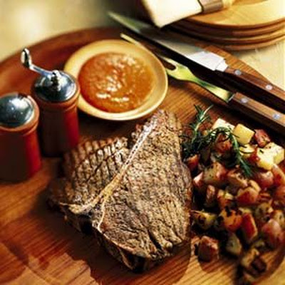 Porterhouse Steak with Sauce Rouille