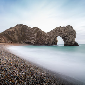 Durdle Door by Kevin Standage - Landscapes Beaches ( canon, long exposure, landscape, durdle door, coast, dorset )