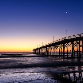 Carolian Beach Pier by Lou Plummer - Buildings & Architecture Bridges & Suspended Structures (  )