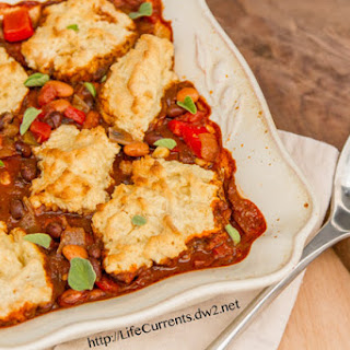 Southwestern Pot Pie with Biscuit Crust