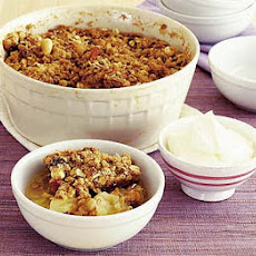 Apple & Ginger Muesli-topped Crumble