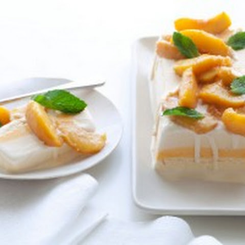 Ice Cream Terrine with Sauteed Peaches