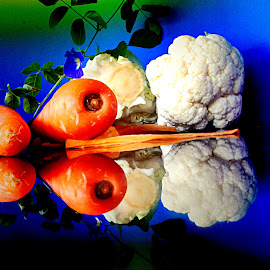 by Janette Ho - Artistic Objects Still Life ( blue, orange. color,  )