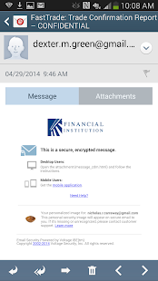 Voltage SecureMail screenshot for Android