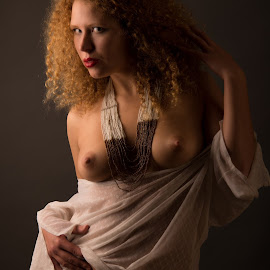 Ginger by Tomas Fensterseifer - Nudes & Boudoir Artistic Nude ( art nude, nude, ginger, low key, curly hair )