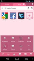 Screenshot of Pink Bird Boat Browser Theme