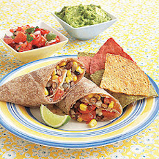 Corn, Black Bean and Pepper Jack Burritos