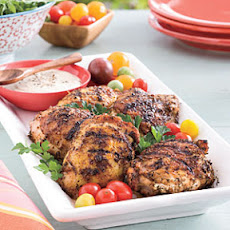 Grilled Chicken Thighs with White Barbecue Sauce