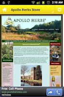 Screenshot of Apollo Herbs