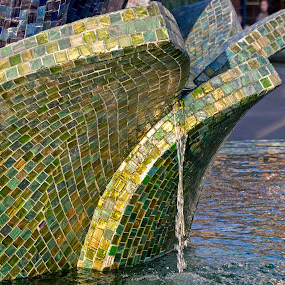 MosaicFountain by Joanne Burke - City,  Street & Park  Fountains